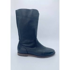 H.S. Trask Womens Boots Black Mid Calf Pull On 8 M
